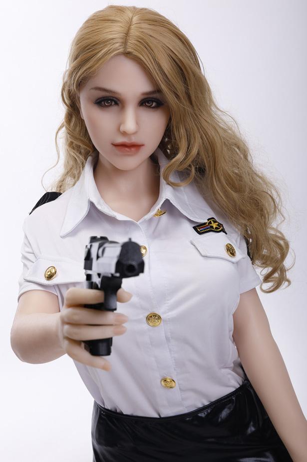 Realistische Polizistin Silikonpuppe Gloria