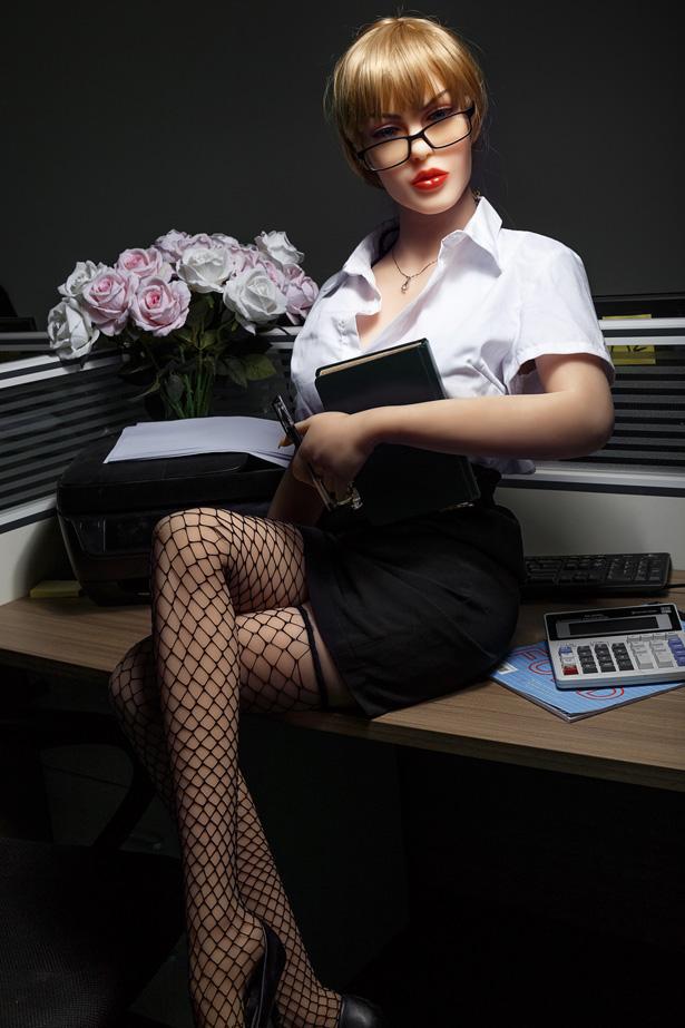 Blonde Schönheit Sexpuppe Regina