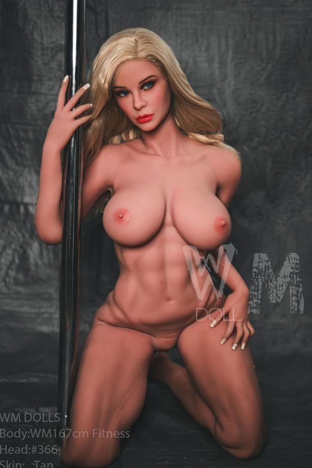 Muskelkörper blonde Haar Sex Doll Mila