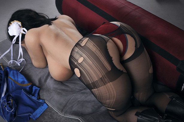 Stilvolles schwarze Haar Real Doll