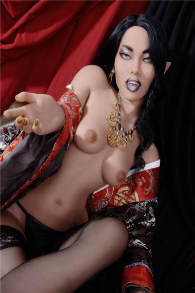 Albertine-YL Doll lustige sexpuppe mit schwarzem Mund