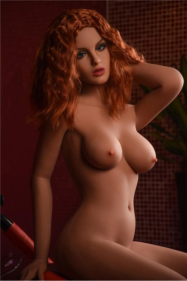 Rosa-165CM italienisches sexy Mädchen mit langen lockigen roten Haaren