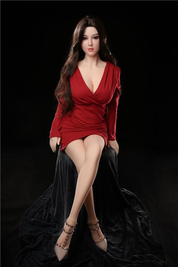 Shirin-165CM Sexpuppe im roten Kleid