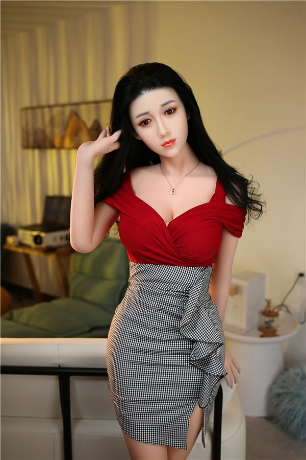Penelope-165cm schwarz langes lockiges Haar Liebespuppe