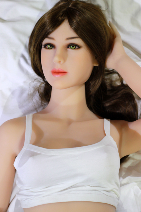 145cm zierliche schlanke Figur sexy lange Haare TPE Sexpuppe