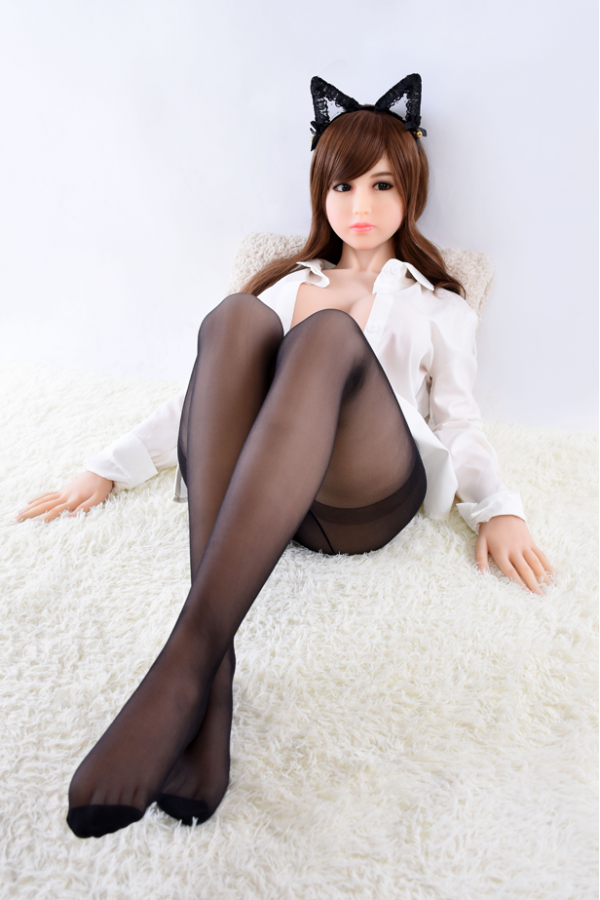 Manon-Sexy schwarze Strümpfe Katzenmädchen Sexpuppe