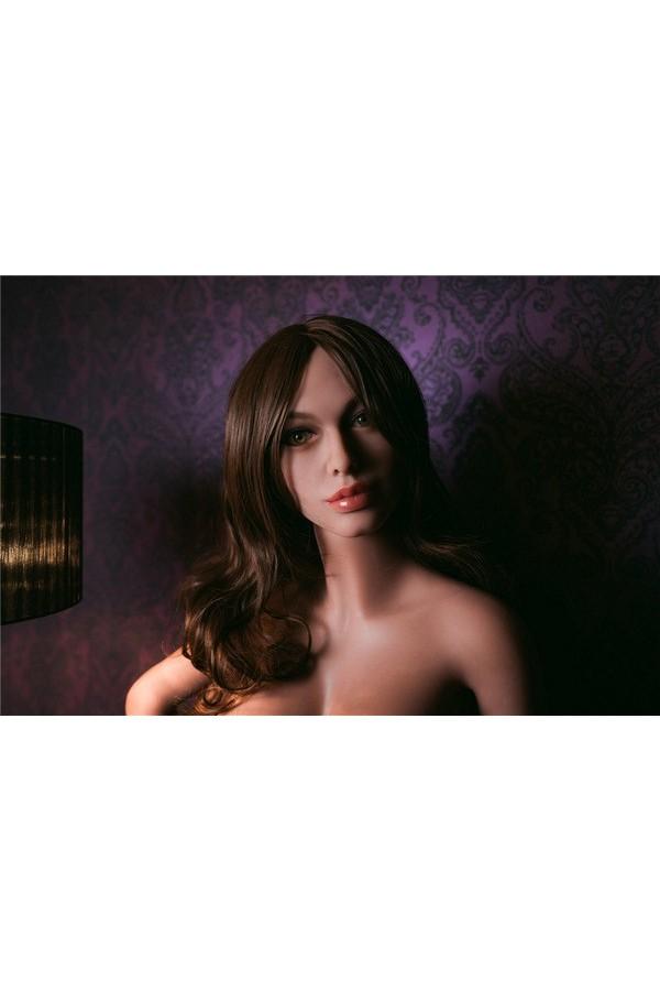 156cm Sex Doll Langes Braunes Haar