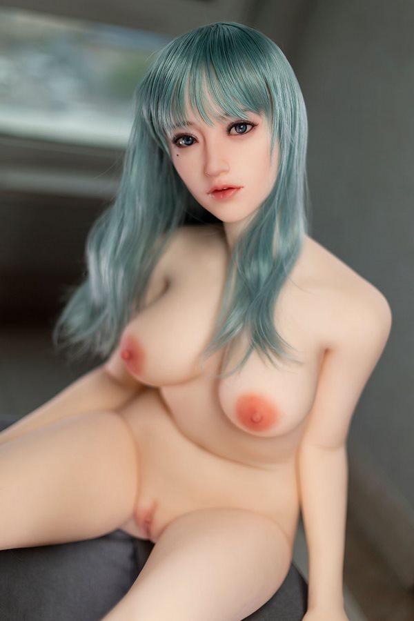 32kg 168cm Sexpuppe Mädchen mit blauen langen Haaren