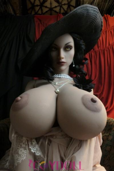 160cm riesige Brüste hellbraune Haut blonde Sexpuppe Cathy