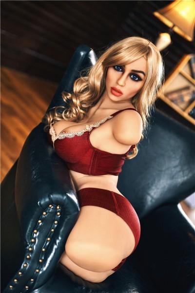 Zenobia-billige blonde torso Liebespuppe