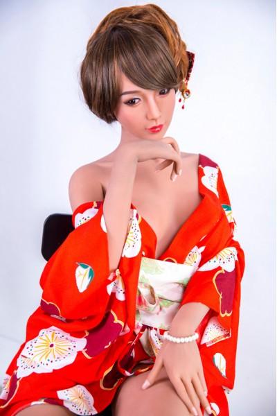 Eren-Japanische Rote Kimono SMdoll Liebespuppe