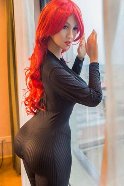 Tatjana-Rothaarige Großer Arsch Sex Doll