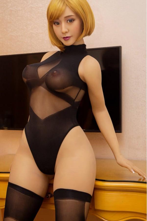 Stefanie-Schwarzen Strümpfen Sexy Doll