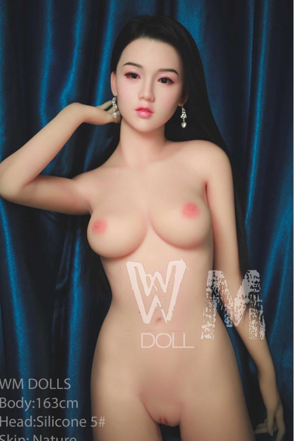 Wilhelmine-Asiatische echte Silikonkopf WM Sexpuppe 163cm