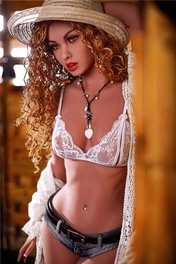 Sallie-158cm heiße spanische Sexpuppe mit kleiner Brust